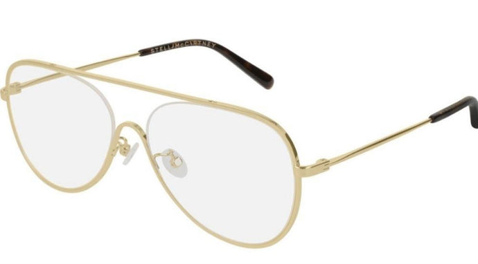 Stella McCartney SC0160O Gold Metal Pilot Eyeglasses Frames