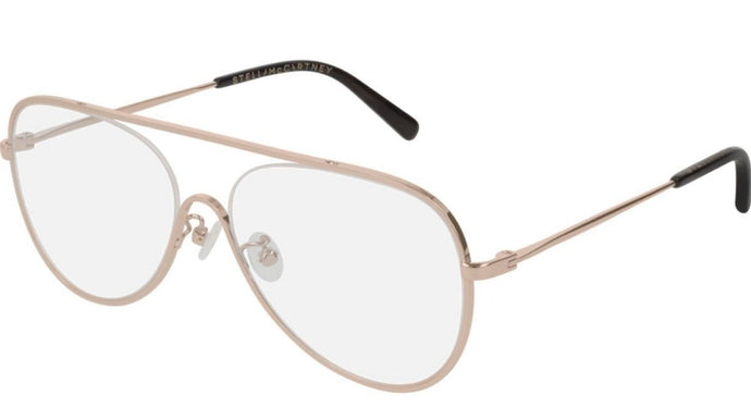 Stella McCartney SC0160O Rose Gold Metal Pilot Eyeglasses Frames