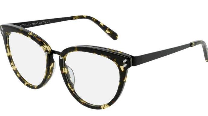 Stella McCartney SC0162O Havana Brown Cat Eye Eyeglasses Frames