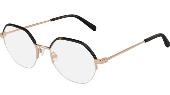 Stella McCartney SC0184O Brown Angled Half Rim Eyeglasses Frames