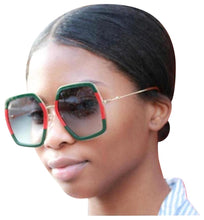 Load image into Gallery viewer, Gucci 0106S Oversized Geometric Sunglasses