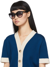 Load image into Gallery viewer, Gucci 0631S Rounded Marmont Logo Sunglasses in Black