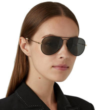 Load image into Gallery viewer, Gucci GG0515S Rounded Metal Aviator Black Sunglasses