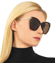 Load image into Gallery viewer, Gucci 0510S Butterfly Metal Leg Oversized Havana Brown Sunglasses