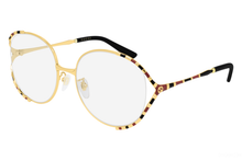 Load image into Gallery viewer, Gucci GG0596OA Gold Rounded Cutout Eyeglasses Frames