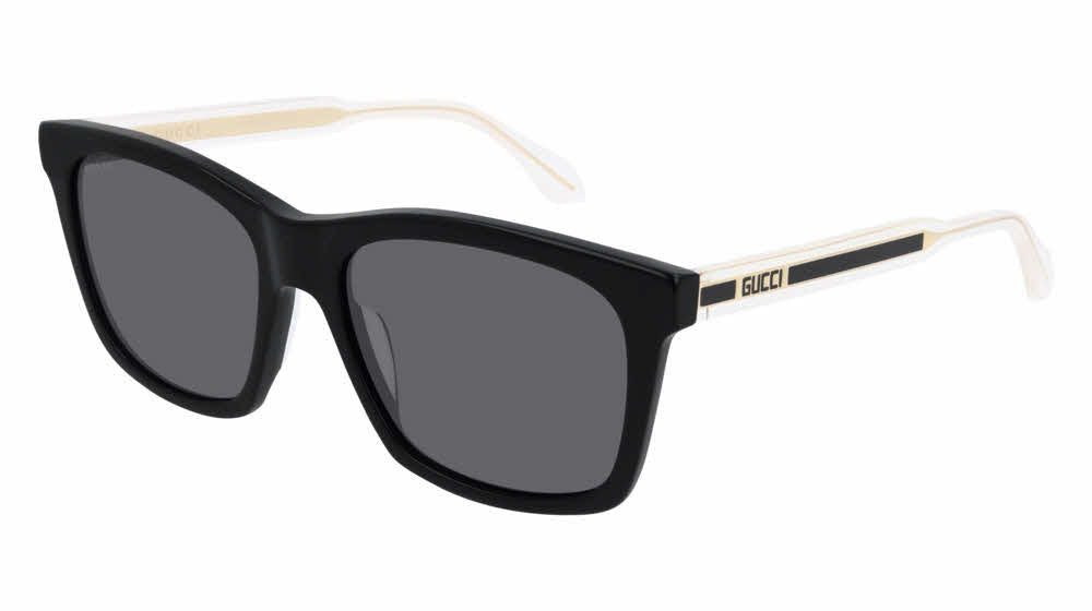 Gucci GG0558S Square Polarized Clear Leg Sunglasses