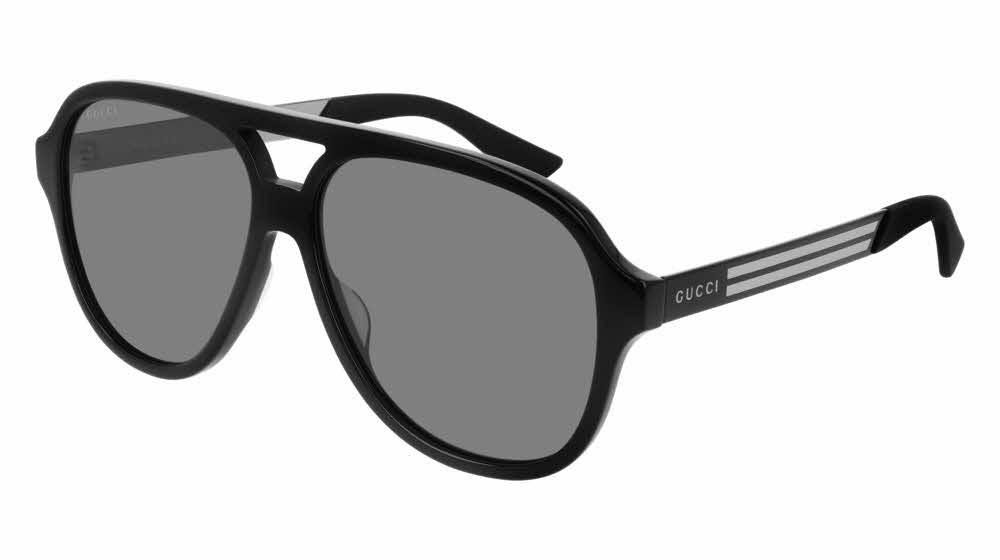 Gucci 0688S Aviator Sunglasses in Black