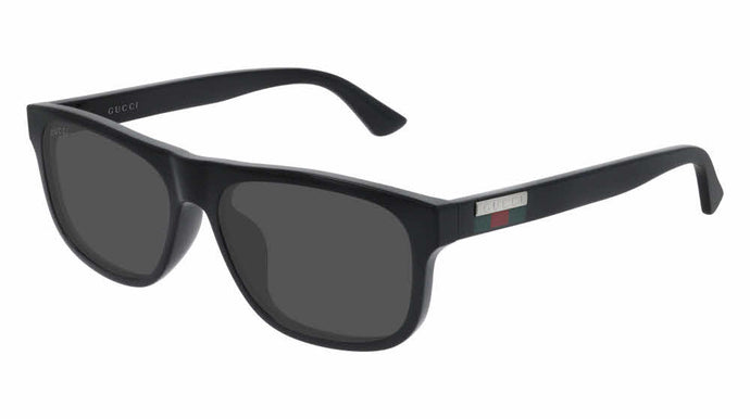 Gucci GG0770SA Unisex Rectangular Sunglasses in Black