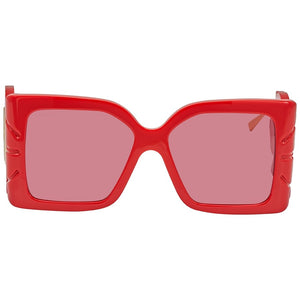 Gucci 0535S Red Feather Oversized Sunglasses