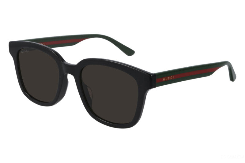 Gucci GG0847SK Black Striped Leg Sunglasses