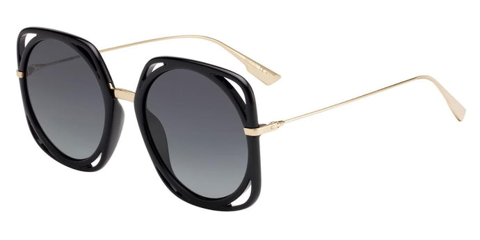 Dior Direction Square Oversized Sunglasses in Black