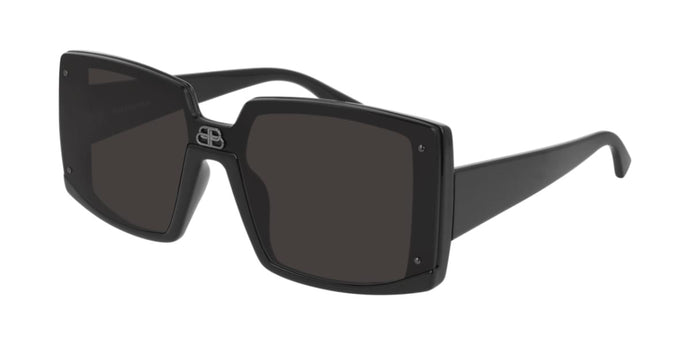 Balenciaga BB0081S 001 Square Sunglasses in Black