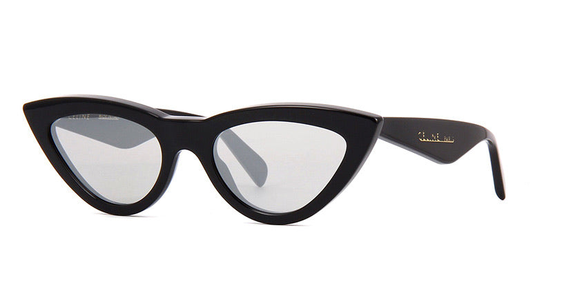 Celine CL40019I Black Mirrored  Cat Eye Sunglasses