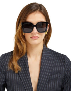 Gucci 0435S Oversized Square Sunglasses in Black