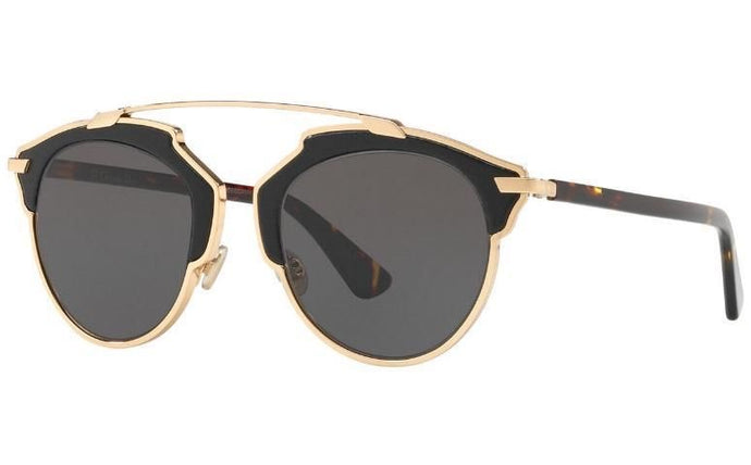 Dior So Real Leather Sunglasses in Black