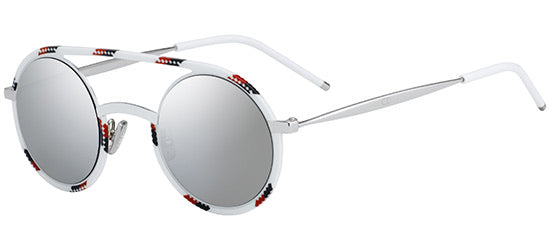 Dior Synthesis Round Sunglasses in White