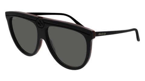 Gucci GG0732S Flat Top Unisex Logo Sunglasses in Black