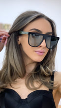 Load image into Gallery viewer, Gucci GG0582S Square Flat Top Sunglasses in Green Tint