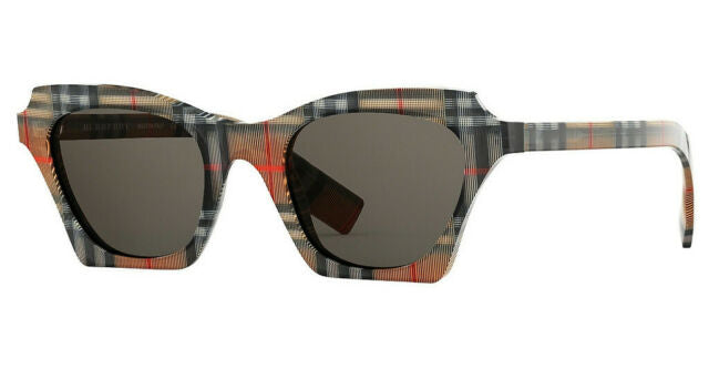 Burberry BE4283 Checked Print Sunglasses