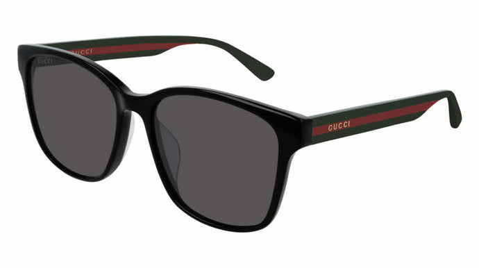 Gucci 0417SK Black Striped Leg Sunglasses