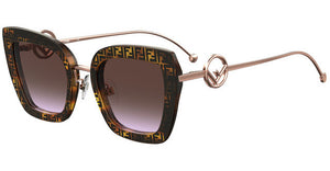 Fendi 0408/S F is Fendi Cat Eye Sunglasses in Logo Print