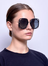 Load image into Gallery viewer, Dior Direction Square Oversized Sunglasses in Black