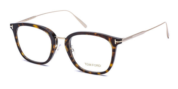 Tom Ford FT05507K Unisex Square Eyeglasses Frames in Havana Brown