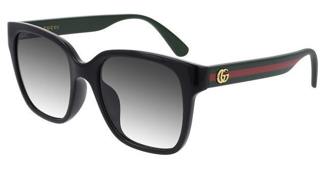 Gucci GG0715SA Oversized Black Square Logo Leg Sunglasses