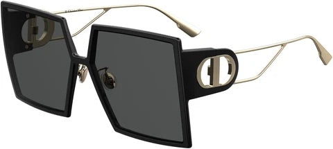 Dior Montaigne 30 Oversized Square Sunglasses in Black