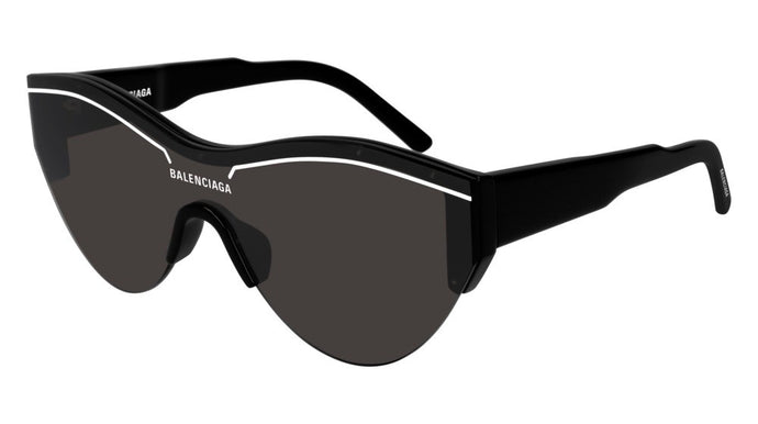 Balenciaga BB0004SA 001 Shield Sunglasses in Black