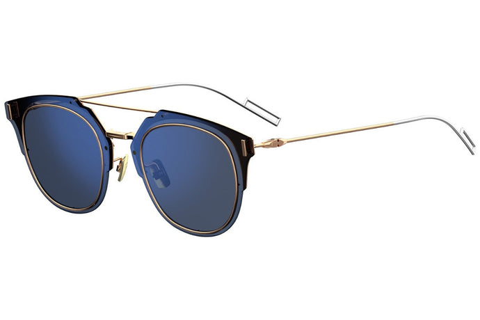 Dior Composit 1.0 Aviator Sunglasses in Rose Gold/Navy Blue Mirrored