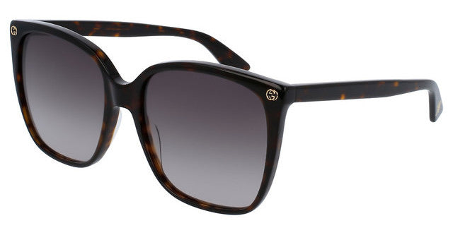 Gucci GG0022S Brown Square Logo Sunglasses