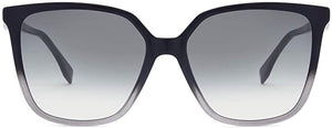Fendi FF0318/S Grey Ombré Logo Sunglasses