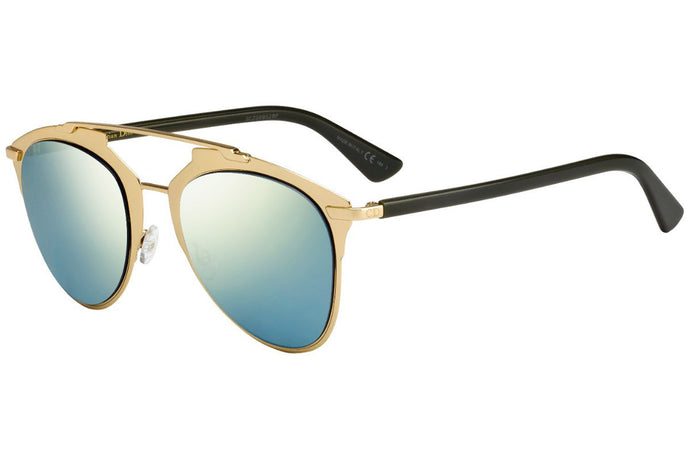 Dior Reflected Sunglasses in Gold/Blue Mirror