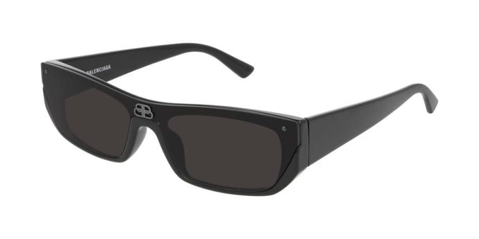 Balenciaga BB0080S 001 Shield Sunglasses in Black