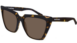Balenciaga BB0046S 002 Cat Eye Sunglasses in Brown