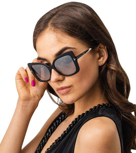 Tom Ford Gianna Butterfly Sunglasses in Black