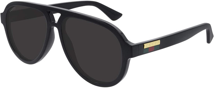 Gucci 0767S Aviator Sunglasses in Black