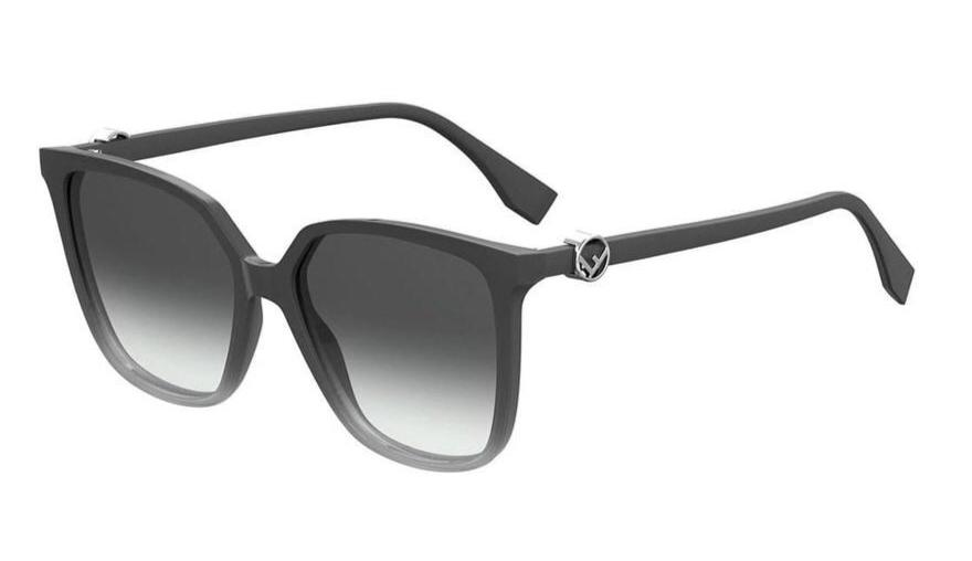 Fendi 0318S Grey Ombré Logo Sunglasses