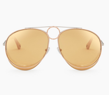 Load image into Gallery viewer, Chloe CE144S Romie Aviator Sunglasses in Yellow Gold Mirrored