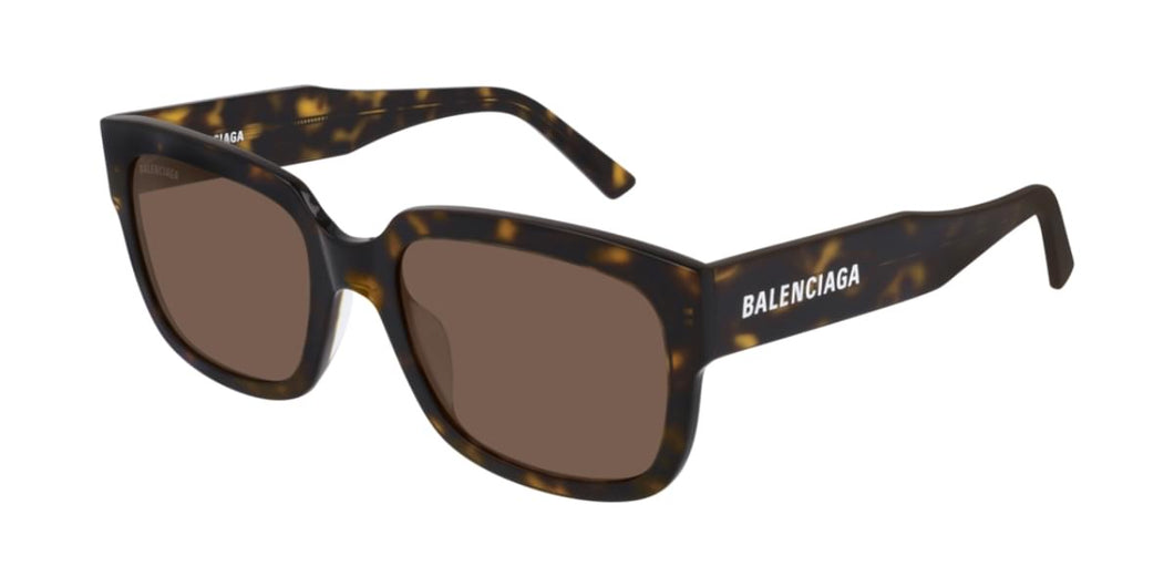 Balenciaga BB0049S Rectangle Logo Sunglasses in Brown