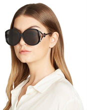 Load image into Gallery viewer, Gucci GG0226SK Oval Cutout Sunglasses in Black