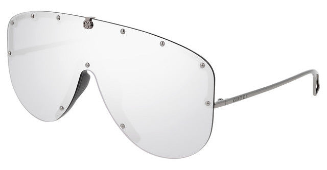 Gucci GG0667S Silver Studded Shield Sunglasses