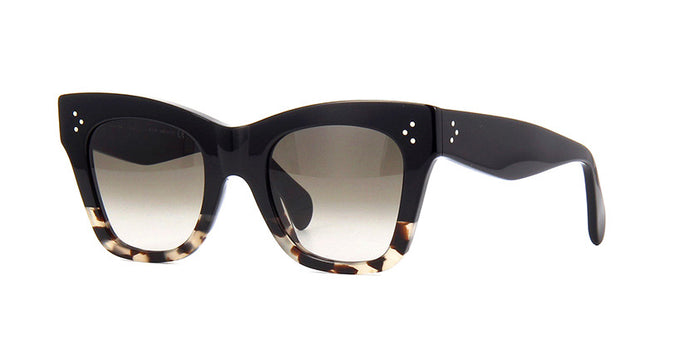 Celine CL4004IN Black Two Toned Cat Eye Sunglasses