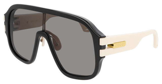 Gucci GG0663S Black Shield Sunglasses