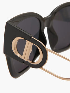 Dior 30Montaigne1 Cat Eye Sunglasses in Black Gold