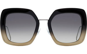 Fendi 0317/S Black Tropical Shine Oversized Square Sunglasses