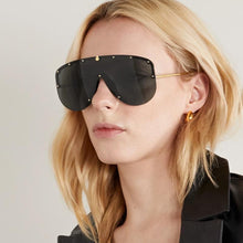 Load image into Gallery viewer, PREORDER || Gucci 0667S Black Studded Shield Sunglasses