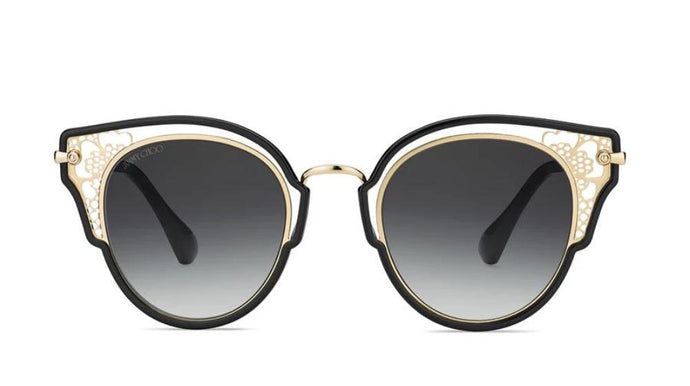 Jimmy Choo Dhelia Lace Cat Eye Sunglasses in Black