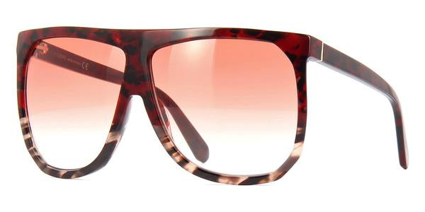 Loewe LW40001I Filipa Oversized Mask Sunglasses in Red Havana
